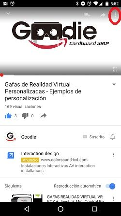 gafas de realidsad virtual youtube ajustes