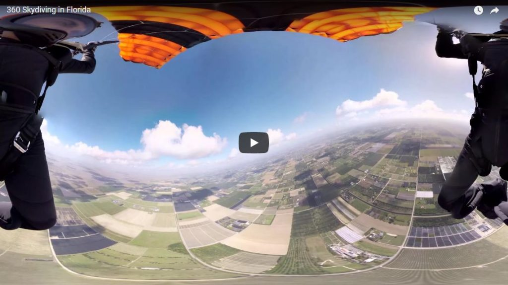 360 skydiving in florida - cardboard360